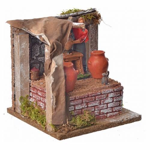 Animated nativity scene figurine, potter, 10 cm s3