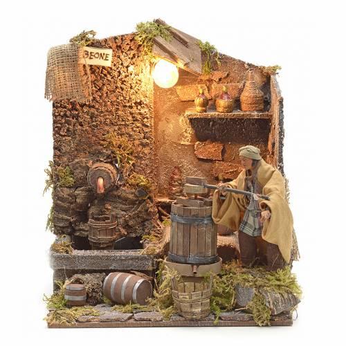 Animated Nativity scene figurine, wine press, 12 cm s1
