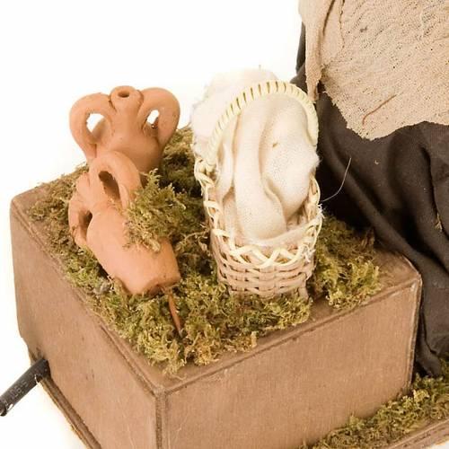 Animated nativity scene,  mother feeding baby 14 cm s4