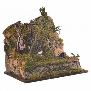 Animated Neapolitan nativity figurine, woodcutter 10cm s2