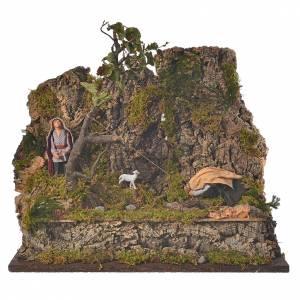 Neapolitan Nativity Scene: Animated Neapolitan nativity figurine, woodcutter 10cm