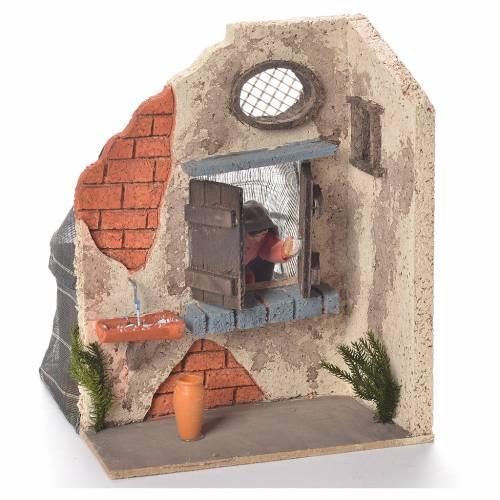 Animated Woman at the window 10cm Neapolitan Nativity s2