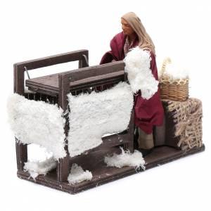 Neapolitan Nativity Scene: Animated wool teaser scene 14cm neapolitan Nativity