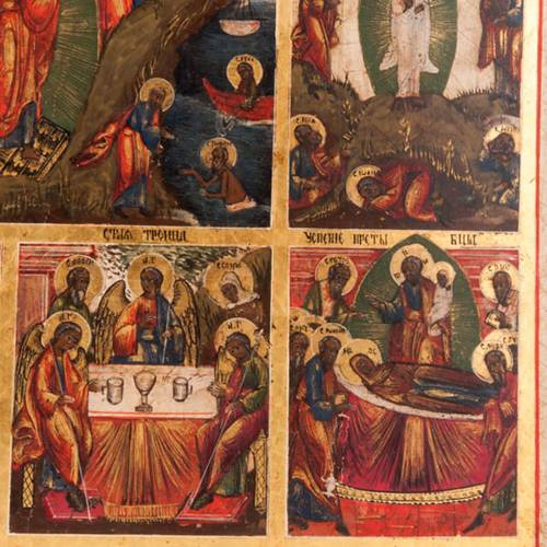 Antique icon 'The 12 great feasts of the liturgical year&#0 7