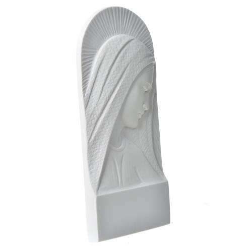 Applique tête de la Vierge 11 cm marbre s2