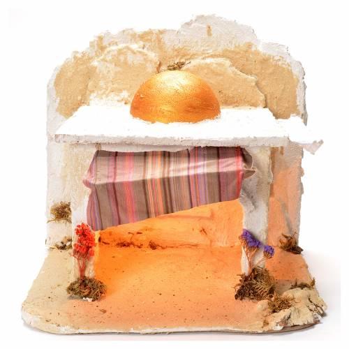 Arabian cabin, Neapolitan Nativity 32x37x37cm s1