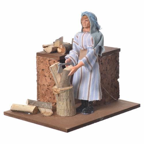 Arabian woodcutter, animated nativity figurine 12cm s2