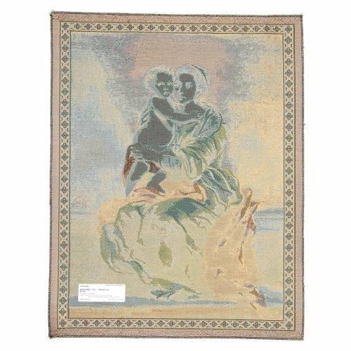 Arazzo Madonna Del Rosario di Bartolomé Esteban Pérez Murillo 65x50 cm s2