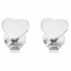 Colgantes, cruces y broches: Aretes AMEN Corazón plata 925 acabado Rodio