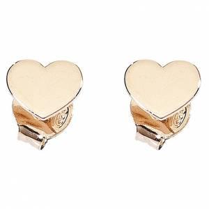 Colgantes, cruces y broches: Aretes AMEN Corazón plata 925 acabado rosado