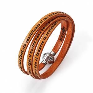 Armbänder AMEN: Armband AMEN Vater Unser Italienisch orange