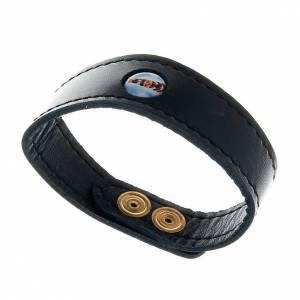 Sonstige Armbände: Armband mit Gottesmutter von Loreto aus Leder