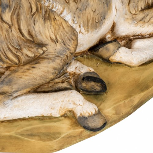 Asinello presepe Fontanini 65-85 cm resina s3