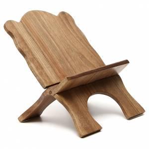 Atril de mesa de madera de nogal simple Monjes de Belén s4
