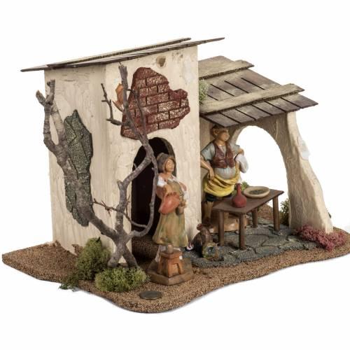 Auberge crèche Noel Fontanini pour village de 12 cm s2