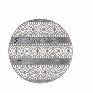 Auréole décorée laiton argenté s2