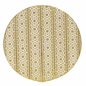 Auréole laiton doré et décors s1