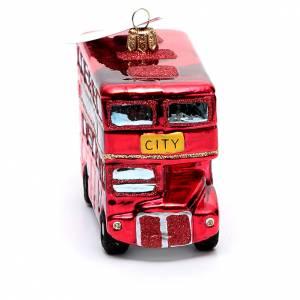 Adornos de vidrio soplado para Árbol de Navidad: Autobús de Londres adorno vidrio soplado Árbol de Navidad