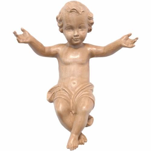 Baby Jesus made of Valgardena wood, patinated finish s1