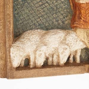 Bajorrelieve de pastores Pesebre de otoño de madera pintada s4
