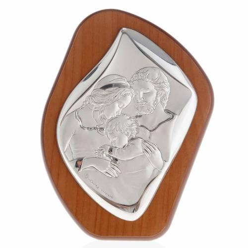 Bajorrelieve plata Sagrada Familia con niño s1