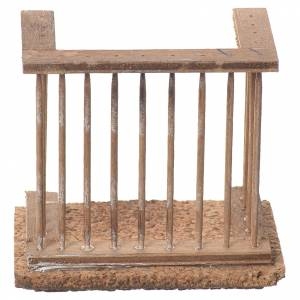 Balcon crèche napolitaine 8x7x4 cm s1