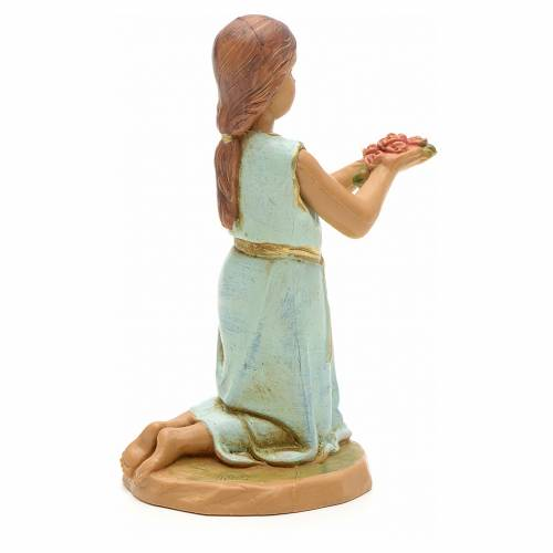 Bambina con mazzo di rose 12 cm Fontanini s2