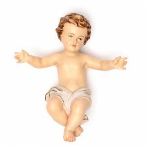 Bambinello Gesù 20 cm fiberglass veste bianca s1