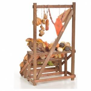 Banc du charcutier en cire en miniature 20x22x40cm s3