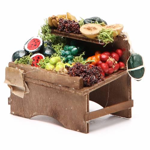 Banc fruits en vrac 8x9x7 cm crèche Naples s2