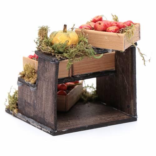 Banchetto di frutta accessori in miniatura per presepe napoletano s3