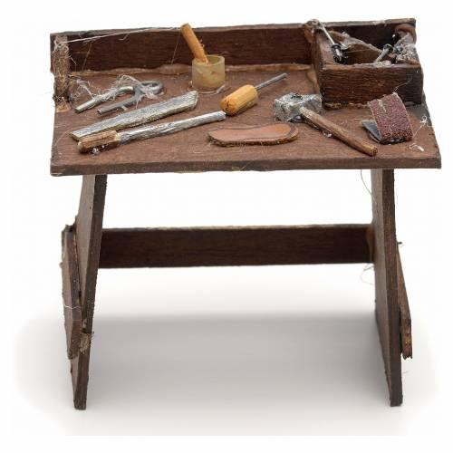 Banco de herramientas de trabajo pesebre Nápoles s1