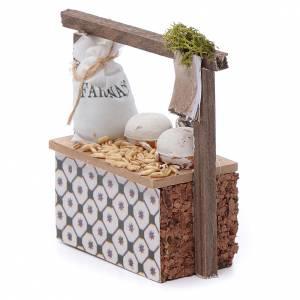 Banco farina e cereali per presepe 10x10x5 cm s2