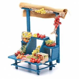 Banco frutta 15X14X9 cm per presepe napoletano s2