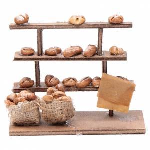 Neapolitanische Krippe: Bank Brot für Krippe Holz gebrannter Ton