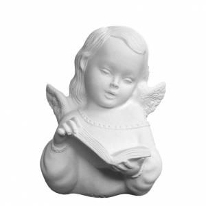 Bas relief ange avec livre marbre 13 cm s1
