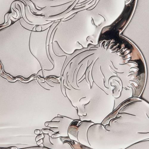 Bas relief en argent , mère avec enfant qui dort, 11X14 s2