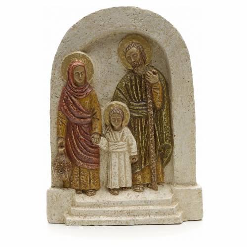 Bas relief Sainte Famille pierre Bethléem 18x13 s1