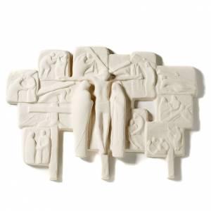 Way of the Cross: Bas-relief Way of the Cross in fireclay,