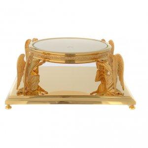 Basi per ostensorio: Base per ostensorio molina ottone dorato