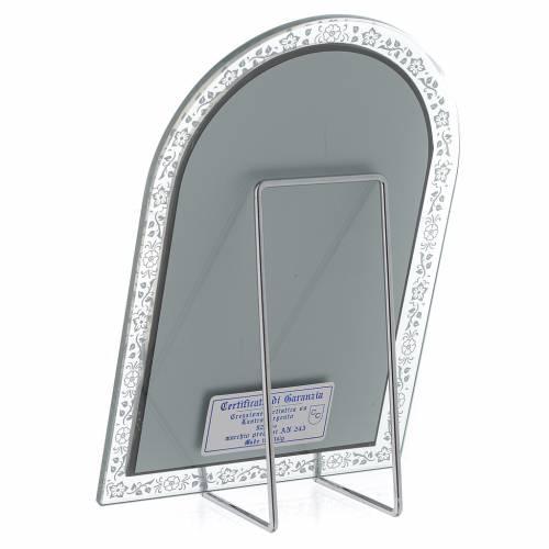 Bassorilievo argento Madonna Ferruzzi cornice vetro s3