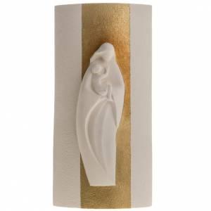 Bassorilievo argilla bianca Maria Gold 29,5 cm s1