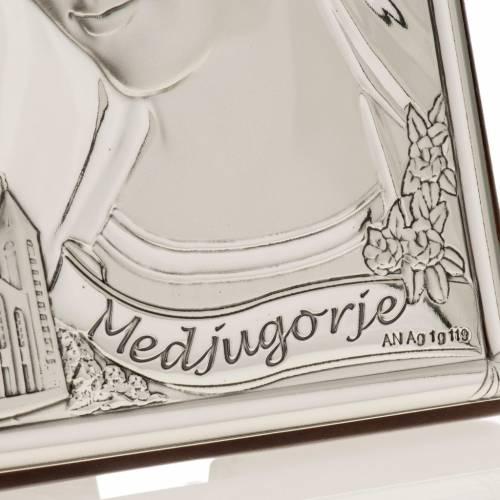 Bassorilievo bilaminato argento Madonna Medjugorje s3