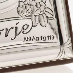 Bassorilievo bilaminato argento Madonna Medjugorje s4