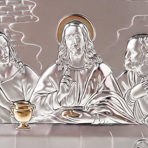 Bassorilievo bilaminato oro arg. Ultima Cena Leonardo s5