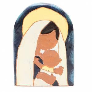 Bassorilievi vari: STOCK Bassorilievo Madonna con Bambino resina colorata