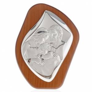 Silber Basreliefs: Bassrelief Silber Heilige Familie mit Kind
