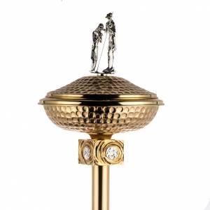Fonti battesimali: Battistero in ottone fuso dorato