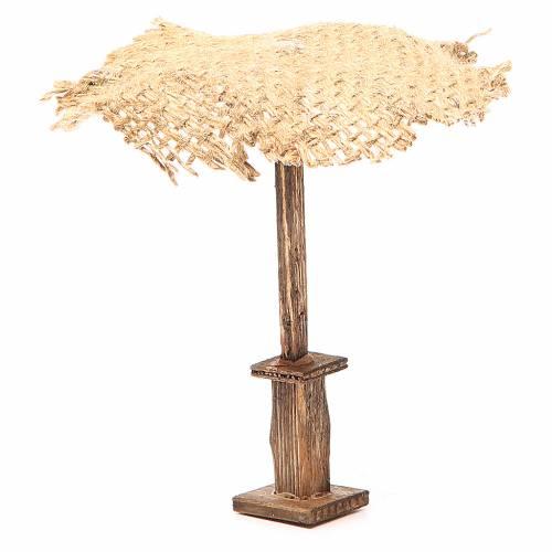 Beach Umbrella jute Nativity 12x10x10cm s2