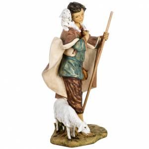Berger avec agneau crèche Fontanini 85 cm résine s7